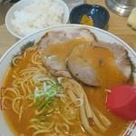 よし乃 - 味噌ラーメン野菜抜き 小ライス