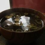73181469 - チャーハンに付いてくる中華スープ。                       安定の味✌️