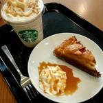 スターバックス・コーヒー - ほうじ茶クリームフラペチーノ♡アップルパイwithホイップ&キャラソ 至福の時間でした♪またリピしたい