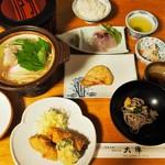 温泉民宿 大陣 - 料理写真:晩ご飯