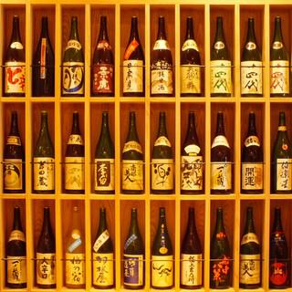 全国各地の銘柄日本酒が50種以上!