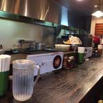麺菜館 楽屋 - カウンタ席