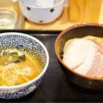 麺屋一燈 - チャーシュー濃厚魚介つけ麺 1100円