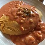 たまごカフェ - えびトマトクリームオムライス