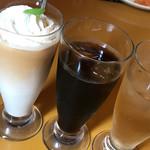 たまごカフェ - カフェラテ、アイスコーヒー、ジンジャエール