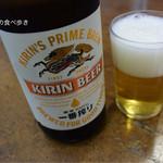 玉乃屋 - 瓶ビール中瓶 550円