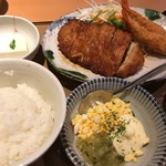 やよい軒 - チキン南蛮とエビフライの定食