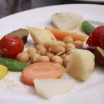 イル ピッツァイオーロ - ランチセットの前菜 温野菜のサラダ