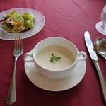 レストランカワヨグリーンロッヂ - Aセット(スープ、ライス、サラダ、珈琲)850円
