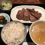 73191841 - ねぎ塩牛タン定食 1,180円。