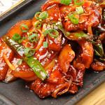 水刺齋 - おいも豚肩ロースと野菜の甘辛炒め