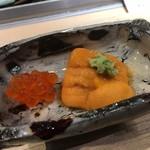 第三春美鮨 - エゾバフンウニ 三年生 養殖 北海道浜中 塩イクラ 生もみ 沖合定置網漁 北海道標津