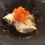 第三春美鮨 - 蒸した鮃の肝
