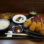 串揚げふじ川 - 料理写真:豚ヘレ・コロ定食