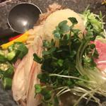 73196440 - 白味噌とプロシュートの冷製味噌麺