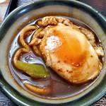 久右衛門 - とり天 八丁味噌煮込みうどん(半熟卵が良く合います)
