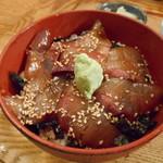 博多炉端 魚男 - ブリのヅケ丼(*^▽^*)