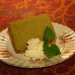 アールグレイ - 料理写真:緑茶シフォンケーキ