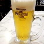 雁川 - 生ビール:250円(セット)