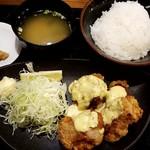 73202095 - 鶏からタルタル定食:700円