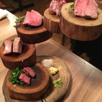 福島 焼肉寿司 - 牛肉刺し盛り合わせ