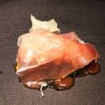 73204449 - 赤座海老とズッキーニの生ハム巻き