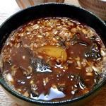 カクキュー - 「国産大豆使用八丁味噌」調理例(ジャガイモ・ワカメ・ネギの味噌汁)