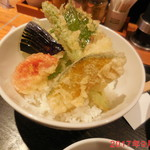 ISOGAMI FRY BAR - ランチセット 野菜天丼アップ