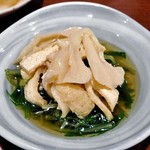 伍味酉 - 水菜と白舞茸と京あげのお浸し