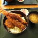 青い塔 - 海老ヒレ丼1750円