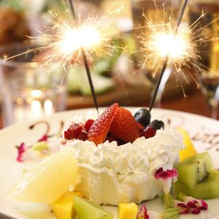誕生日でホールケーキも♪