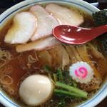 73209107 - しょうゆ焼豚麺味玉入り、麺大盛