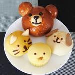 とびら - 4種類の動物パン集合