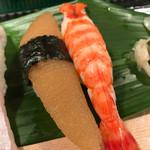 磯寿司 - 『カズノコ』と『エビ』