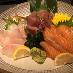 創作割烹 翔 - 鮮魚のお刺身 三種盛り合わせ