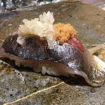 第三春美鮨 - 真鰺 90g 瀬付き 釣 兵庫県沼島