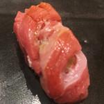 不動前 すし 岩澤 - 料理写真:蛇腹の大トロ