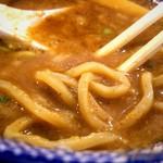 つけ麺専門店 二代目YUTAKA - つけ汁と麺の感じ