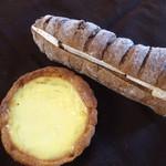 73219877 - タルトシトロン:パン・オ・セレアル・オ・フリュイのチーズサンド