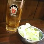 こきんた - 烏龍茶 キャベツ(突き出し)