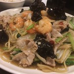 俵飯 - 海老豚醤油焼きそば