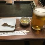 えびす - 料理写真:生中(本日のお通し)
