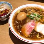 きたかた食堂 - 煮卵醤油+江戸前丼 1150円