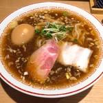きたかた食堂 - 煮卵醤油ラーメン