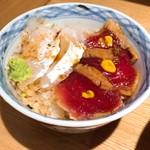 きたかた食堂 - 鮪と鯛の江戸前丼