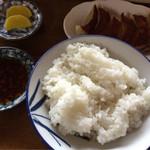 あじ扇 - めし・ギョウザ(定食)
