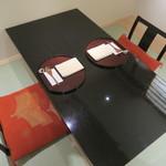 日本料理 太月 - 29年7月 個室のテーブルセッティング