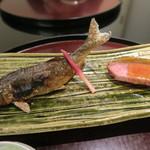 日本料理 太月 - 29年7月 郡上八幡鮎塩焼き 蓼酢、ザブトンたたき