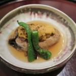 日本料理 太月 - 29年7月 徳島鴨バター焼き、雲丹、獅子唐