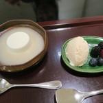 日本料理 太月 - 29年7月 桃パンナコッタ、アールグレイアイス、3種ベリー